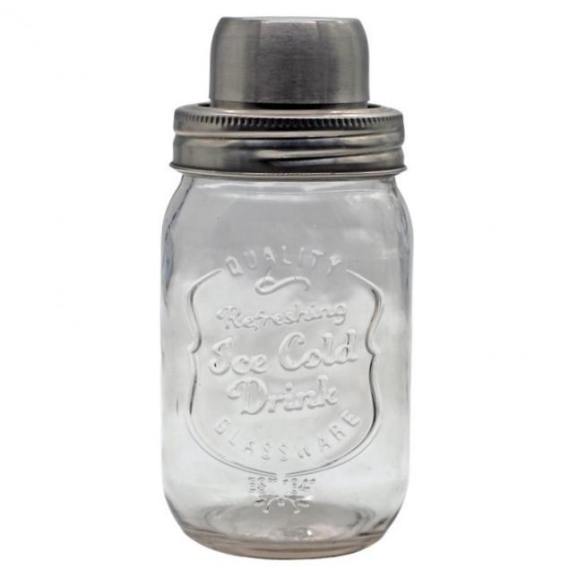Cocktailshaker aus Glas
