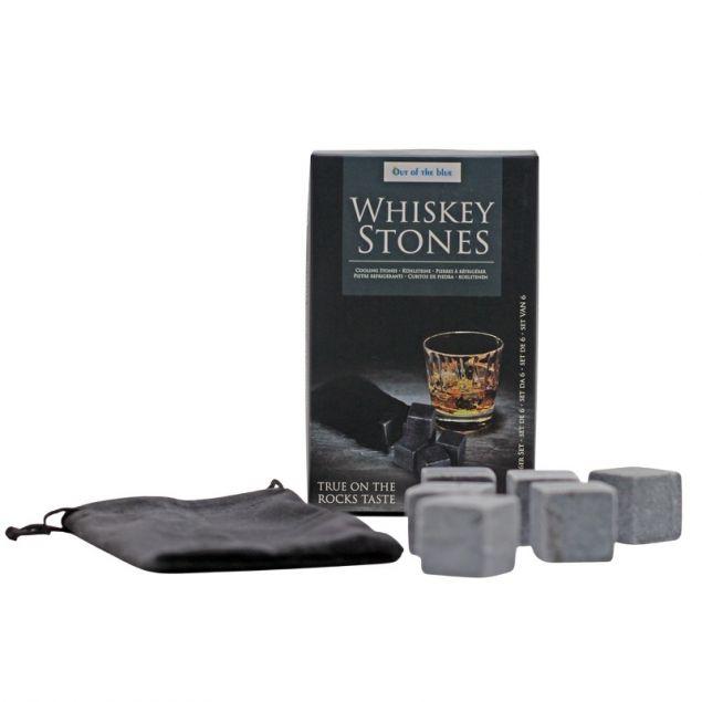 Whisky-Kühlsteine ca. 2,5 cm im 6er Pack mit Samtbeutel