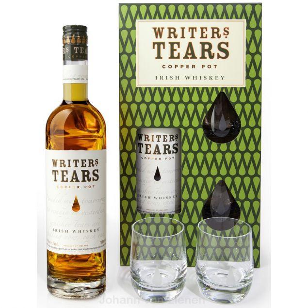 Writers Tears Copper Pot Irish Whiskey mit 2 Gläsern 0,7 L 40%vol