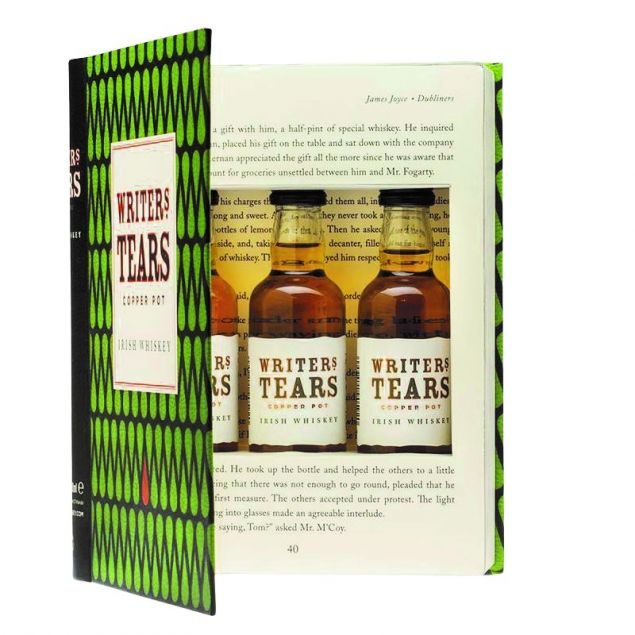 Writers Tears Whiskey Miniaturenset in Buch Optik 3 x 0,05L 40%vol