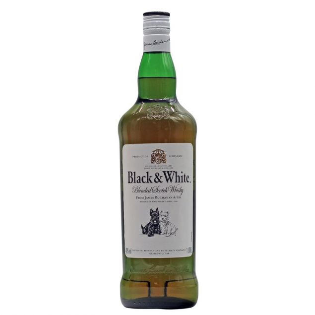 Black & White Blended Scotch Whisky 1 L 40% vol