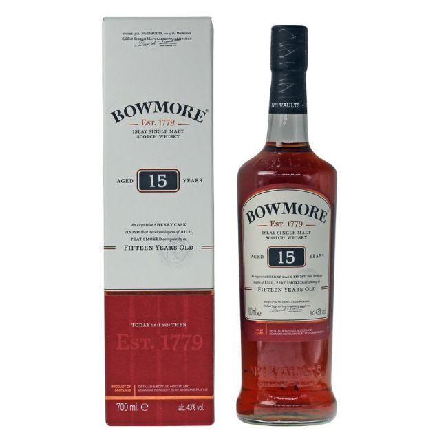 Bowmore 15 Jahre 0,7 L 43%vol