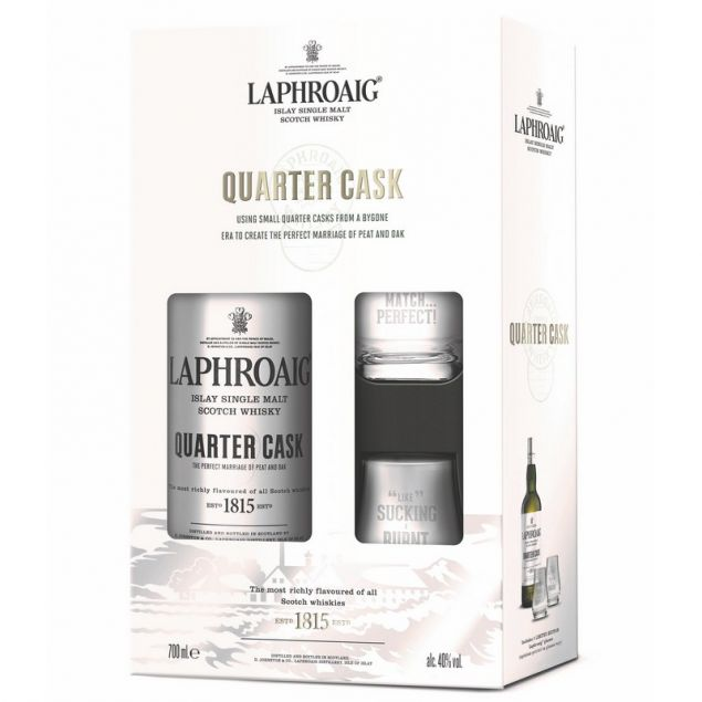 Laphroaig Quarter Cask Geschenkset 0,7 L 48%vol