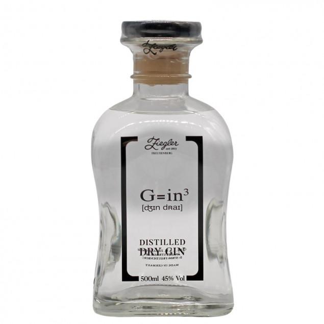Ziegler Dry Gin G=in³ 0,5 L 45% vol