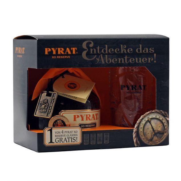 Pyrat XO Reserve Geschenkpackung mit 1 Glas 0,7 L 40% vol