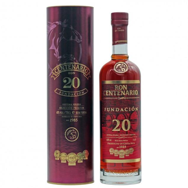 Ron Centenario Fundacion Rum 20 Jahre 0,7 L 40% vol