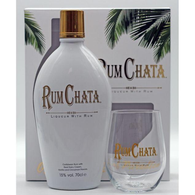 RumChata Likör Geschenkset mit Glas 0,7 L 15% vol