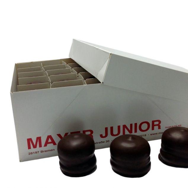 Mayer Junior Schokoküsse doppelt mit Schokolade überzogen 50er Karton