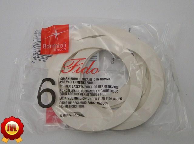 6 Fido Ersatzgummidichtungen