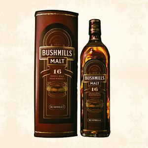 bushmills 16 years single malt whisky