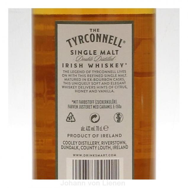 Tyrconnell Single Malt Irish Whiskey 0,7 L 40%vol