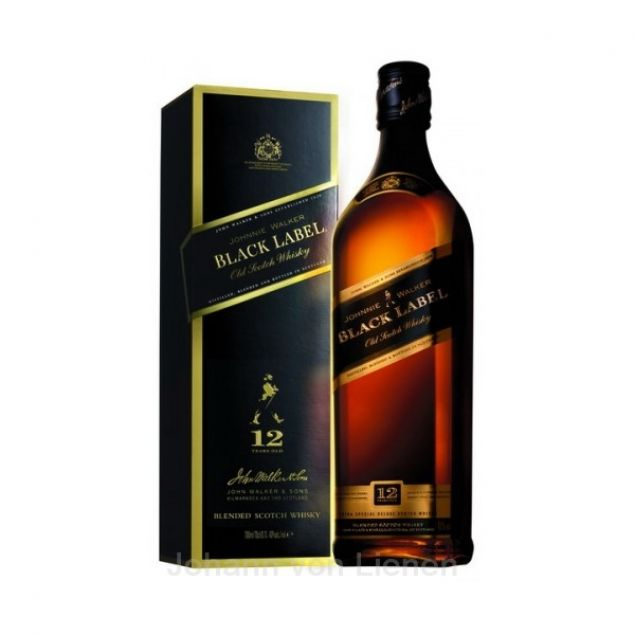 Johnnie Walker Black Label 1 Ltr. 40%vol