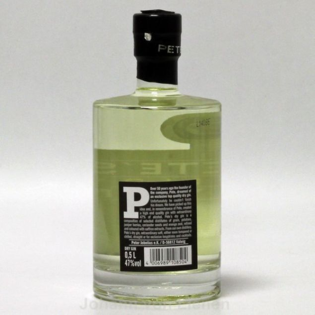 Pete's Yellow Dry Gin 0,5 L 47 %vol