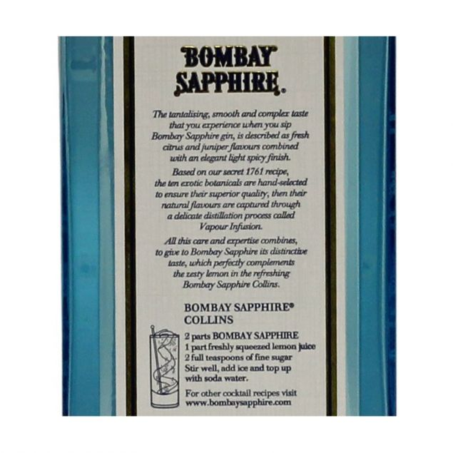 Bombay Sapphire London Dry Gin 0,7 L 40%
