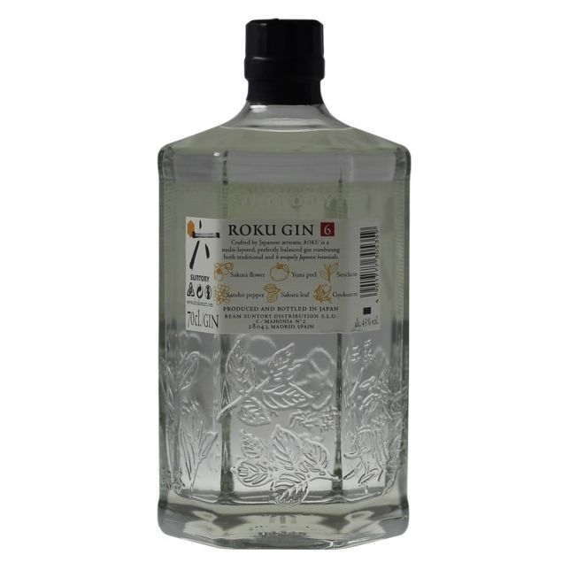 Roku Gin Japanese Craft Gin 0,7 L 43%vol