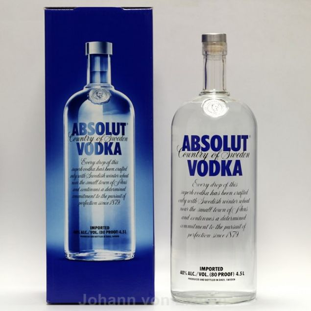 Absolut Vodka Riesenflasche 4,5 L 40%vol