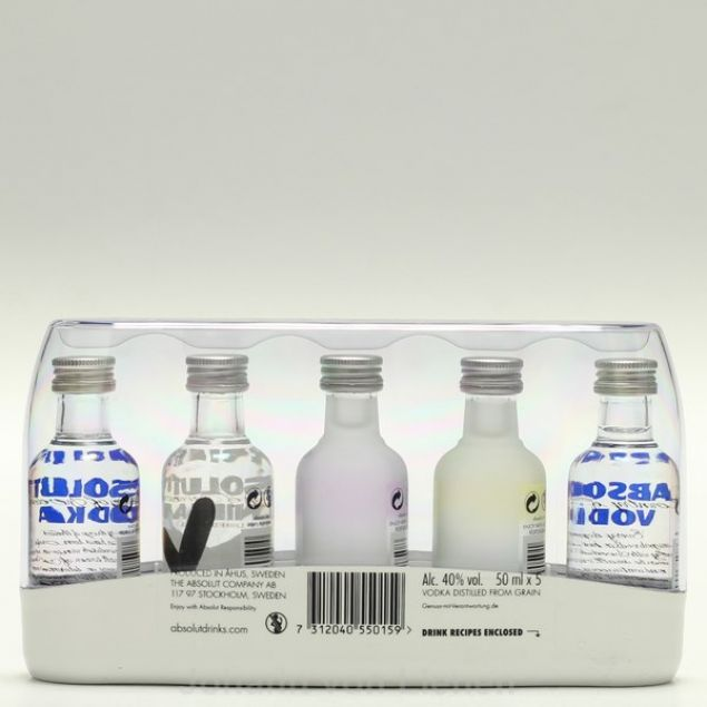 Absolut Vodka Five Pack 5 x 0,05 L 40%
