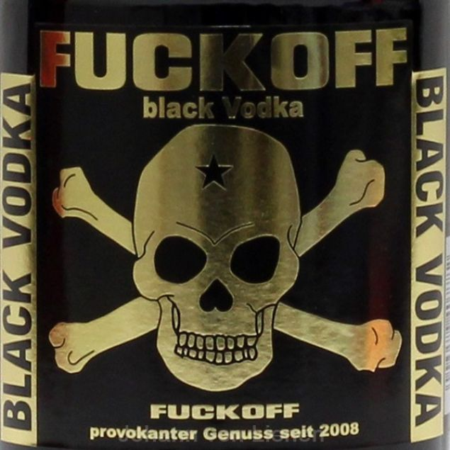 Fuckoff Black Vodka 0,7 L 40%vol