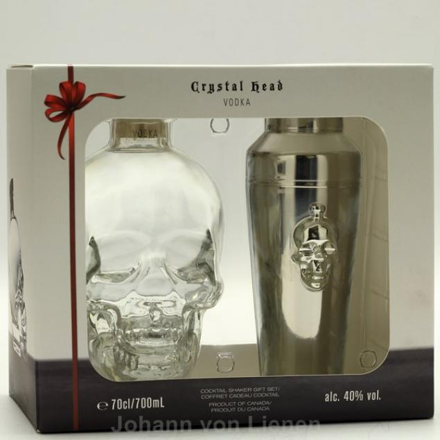Crystal Head Vodka mit Shaker 0,7 L 40%vol