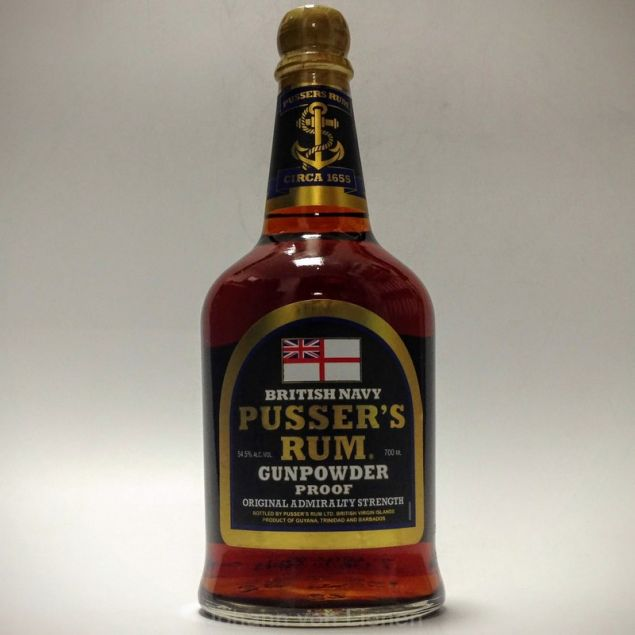Pussers Rum British Navy Gunpowder Proof 0,7 L 54,5%vol