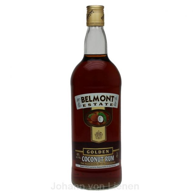 Belmont Estate Golden Coconut Spiced Rum 1 L 40%vol