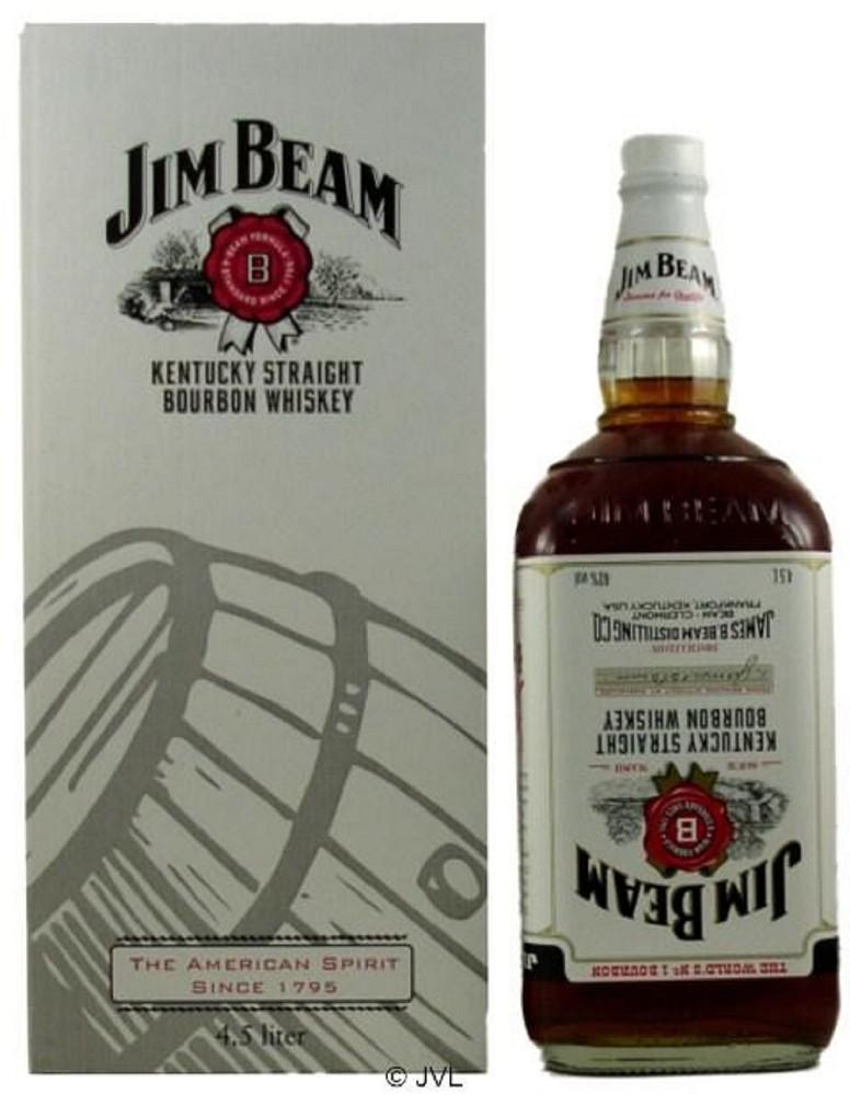 jim beam 4 5 liter flasche white label 40. Black Bedroom Furniture Sets. Home Design Ideas