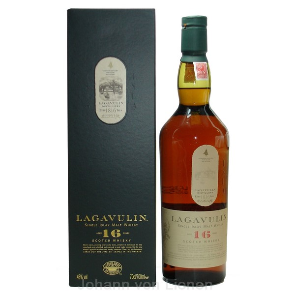 Lagavulin 16 Years Islay Single Malt Whisky 0 7 Ltr 43