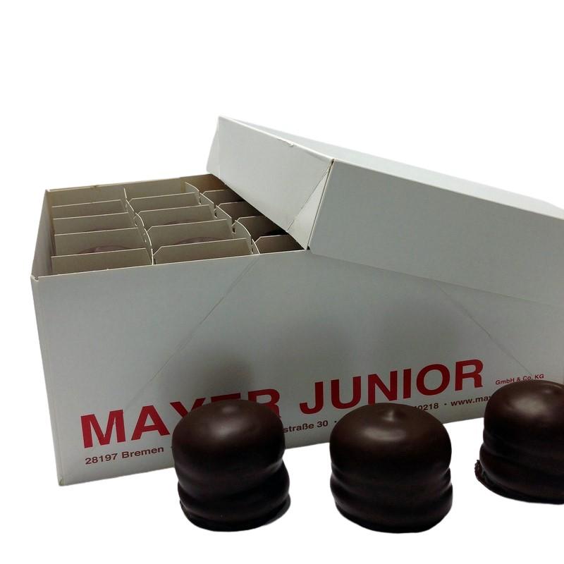 Zutaten von Mayer Junior Schokoküsse doppelt mit Schokolade überzogen