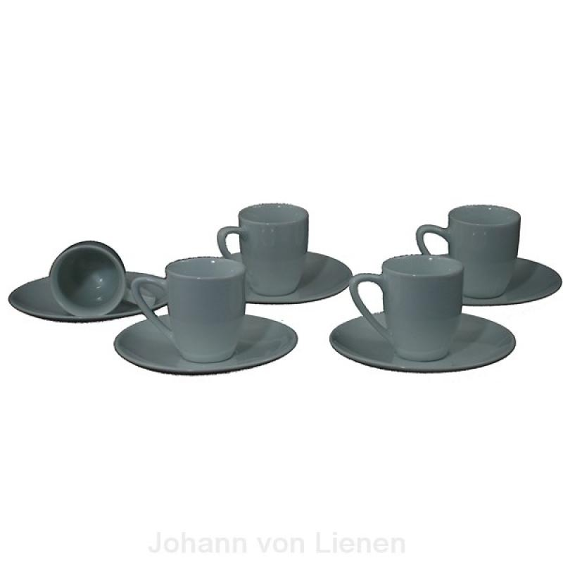 jashopping.de 5 x BIANCO Espresso Ober- + Untertasse