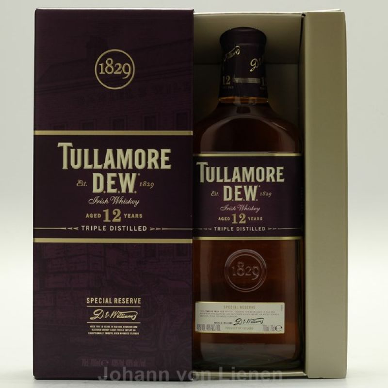 Tullamore Dew 12 Jahre Years 0,7 L 40%vol