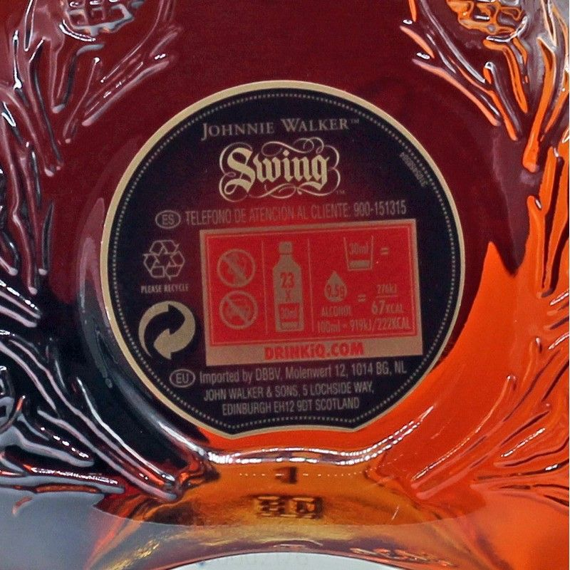 Johnnie Walker Swing Blended Scotch Whisky 0,7 L 40% vol