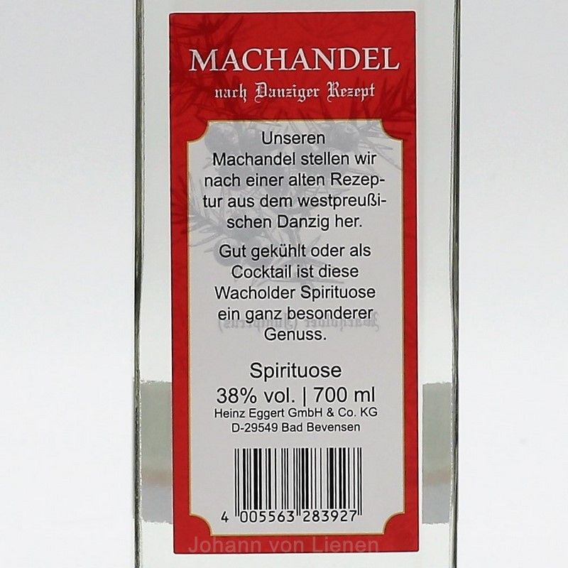 Machandel Wacholderbrand 0,7 L 38%vol