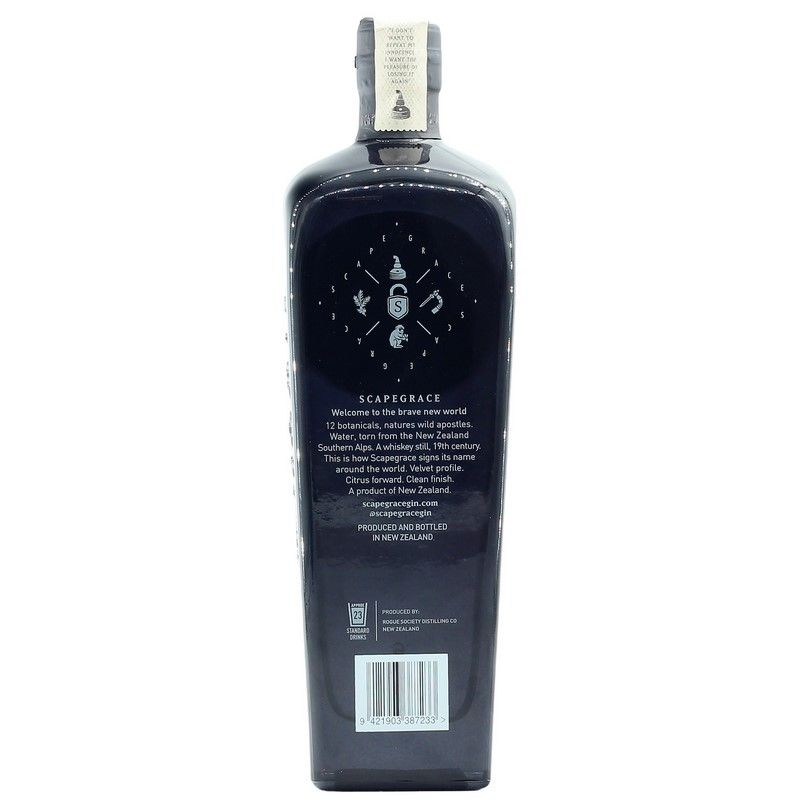 Scapegrace Premium Dry Gin New Zealand 0,7 L 42,2% vol