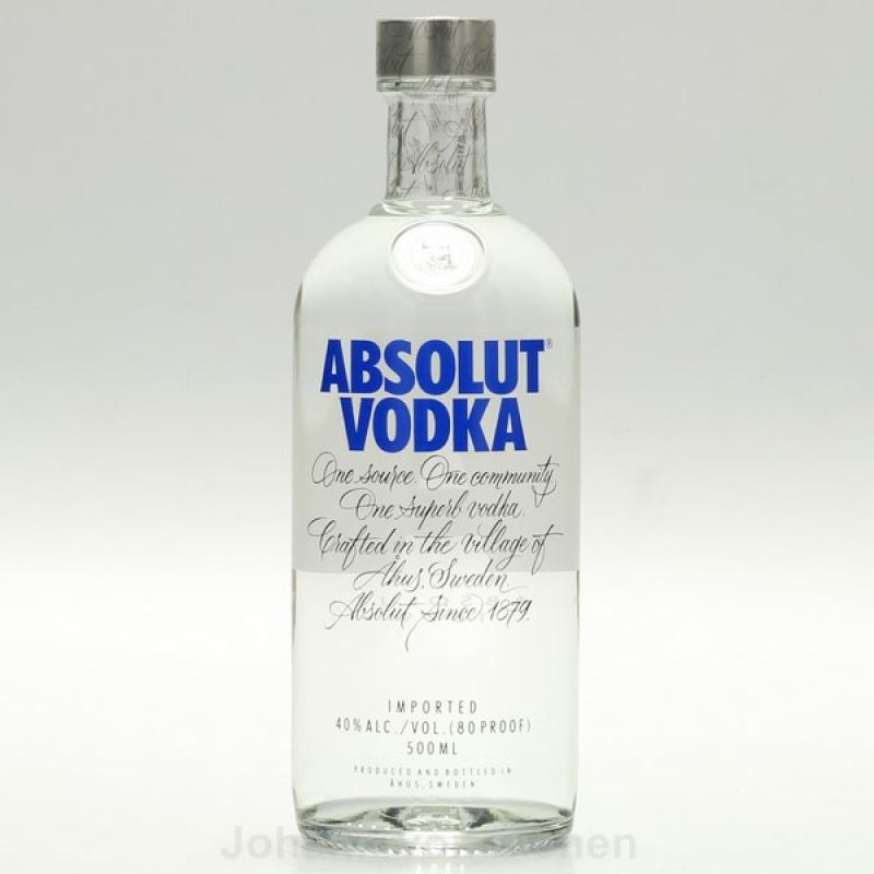 absolut vodka 0 5 ltr 40 wodka. Black Bedroom Furniture Sets. Home Design Ideas