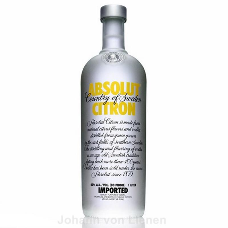 Absolut Vodka Citron 1 L 40%vol