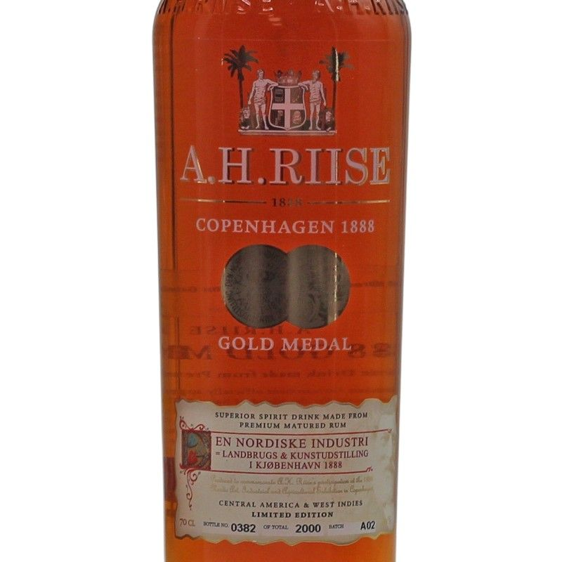 A. H. Riise 1888 Gold Medal Rum 0,7 L 40% vol