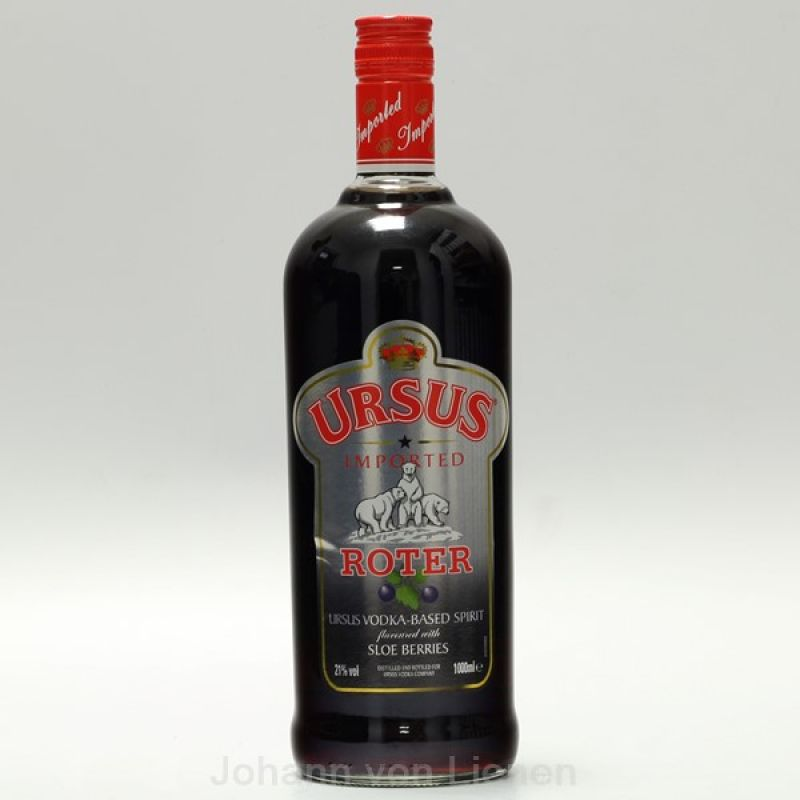 Ursus Roter Vodka-Likör 1 L 21%vol